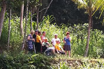 Travelers in Bali