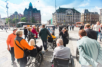 Group of people in a wheelchair in Amsterdam