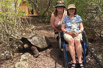 Women in a wheelchair on accessible Safari Tanzania