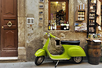 A Scooter for Italian shop