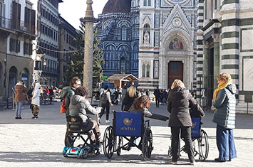 Exploring Florence in Wheelchair