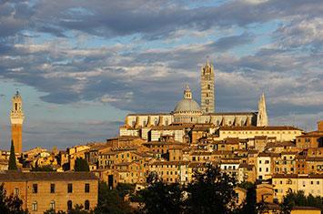 Nice view of Italian City Siena